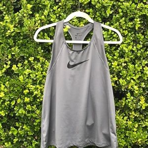 Nike grey racer back athletic top